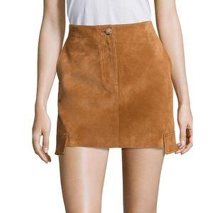 Helmut Lang Suede Mini Cargo Skirt